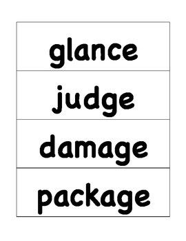 HMH Journeys Grade 4 Lesson 17 Spelling Cards for Pocket Chart