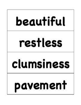 HMH Journeys Grade 4 Lesson 19 Spelling Cards for Pocket Chart