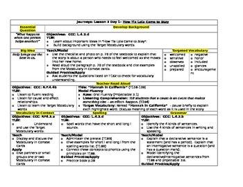 HMH Journeys Grade 4 Lesson plans- Lesson 3