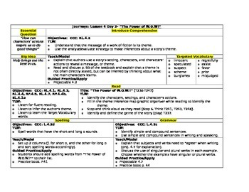 HMH Journeys Grade 4 Lesson plans- Lesson 4