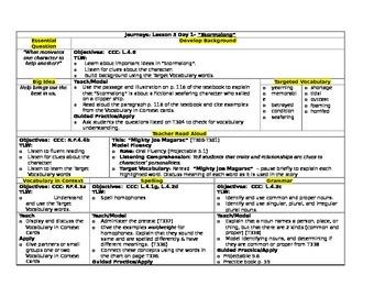 HMH Journeys Grade 4 Lesson plans- Lesson 5