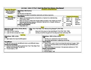 HMH Journeys Grade 5 Lesson plans- Lesson 12