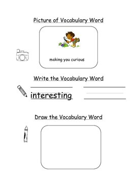 HMH Journeys Kindergarten: Unit 1, Lesson 3 Oral Vocab Word Study Notebook