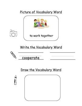 HMH Journeys Kindergarten: Unit 1, Lesson 3 Oral Vocab Wor