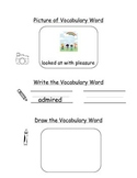HMH Journeys Kindergarten: Unit 1, Lesson 5 Oral Vocabulary Word Study Notebook