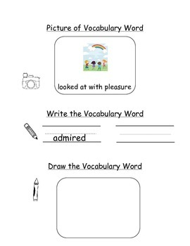 HMH Journeys Kindergarten: Unit 1, Lesson 5 Oral Vocabulary Word Study Notebook