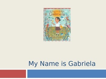 HMH Journeys My Name Is Gabriela Power point for 2nd grade