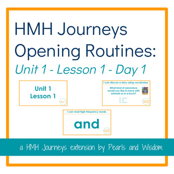 HMH Journeys - Opening Routine Slides - Unit 1 Lesson 1 Day 1