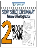 Houghton Mifflin Journey's Story Selection Summary Numbere