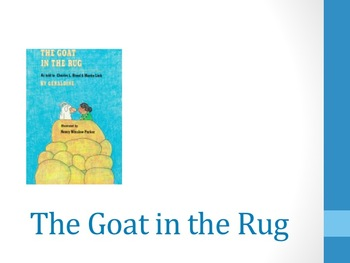 HMH Journeys The Goat in the Rug 2nd grade power point