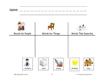 HMH Journeys Kindergarten: Unit 1, Lesson 1 Supplemental Material