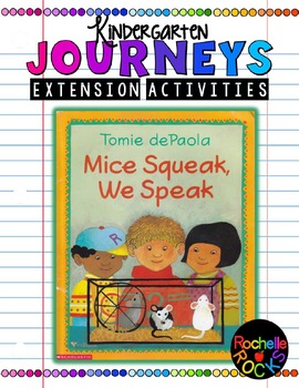 "HMH Journeys Unit 2 Lesson 7 Extension Activities ""Mice Squeak, We Speak"""