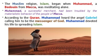 """World History Pearson 2018 Powerpoint Topic 2 """"The Muslim World & Africa"""""""
