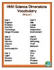 HMH Science Dimensions Vocabulary Word Wall Grade 1