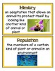 HMH Science Dimensions Vocabulary Word Wall Grade 3