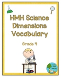 HMH Science Dimensions Vocabulary Word Wall Grade 4
