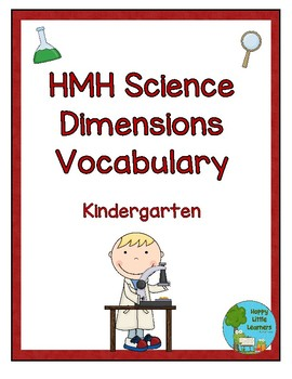 HMH Science Dimensions Vocabulary Word Wall Kindergarten