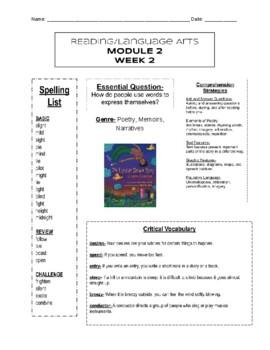 HMH into Reading- Module 2, Week 2- Newsletter- 3rd Grade