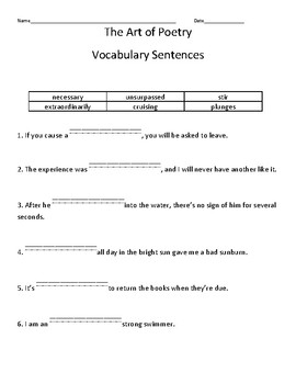 HMH into Reading Texas Ed. 4th Grade Module 5 Week 3 Vocab Packet