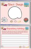 HMR Grade 1 Theme 05 Story 1 - Shell Design & Writing  w/ SMARTBOARD