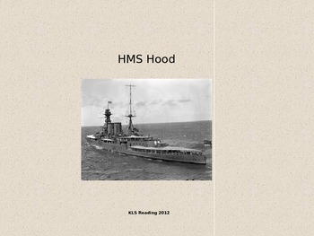 HMS Hood Ship - Power Point - Information Pictures Facts History