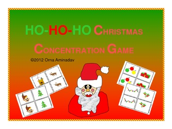 HO HO HO Christmas Concentration Game