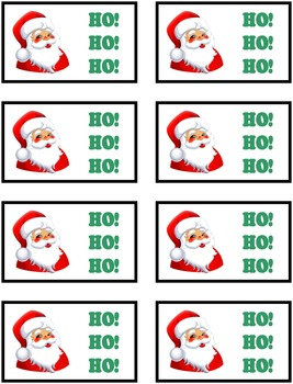 HO! HO! HO! Christmas Phonics Game Activity Blends and Consonant Digraphs