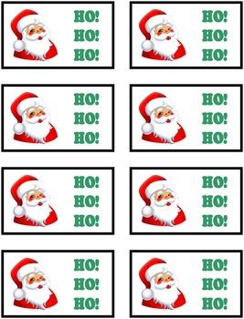 HO! HO! HO! Christmas Phonics Game Activity Silent Consonants kn, mb, gn, st, wr