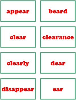 HO! HO! HO! Phonics Game Activity R-controlled Vowels ear, air, our, ere