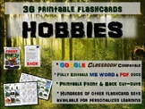 HOBBIES - 36 Printable front/back FLASHCARDS