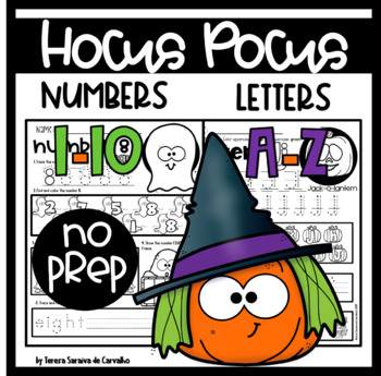 HALLOWEEN - HOCUS POCUS NUMBERS & LETTERS RECOGNITION - NO PREP