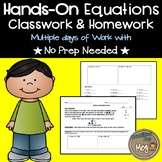 Hands On Equations  {No Prep Needed!}
