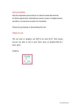 HOJA DE REGISTRO DE CALCULO MENTAL