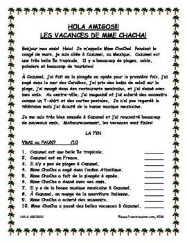 HOLA AMIGOS!!! LES VACANCES DE MME CHACHA!