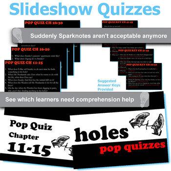 HOLES 10 Pop Quizzes Bundle