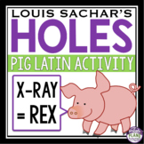 HOLES ACTIVITY PIG LATIN