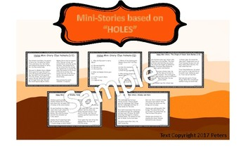 "HOLES BUNDLE! 2 ""Holes"" Games and ""Holes"" Comprehension Stories!"