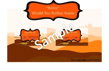HOLES BUNDLE! 2 Games and activities for comprehension and investigation!