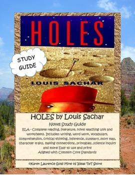 HOLES BY LOUIS SACHAR ELA Novel Study Guide COMPLETE