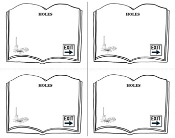 HOLES Book Novel Study Entrance and Exit Slips