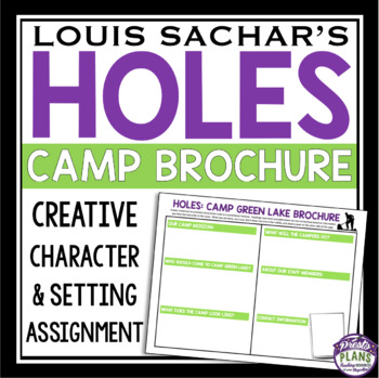 holes camp green lake brochure assignment by presto plans tpt