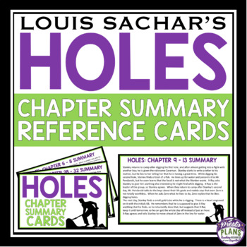 HOLES CHAPTER SUMMARY CARDS