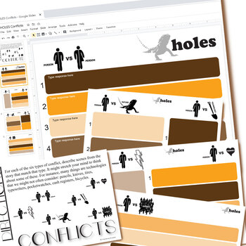 HOLES Conflict Graphic Organizer (Created for Digital)
