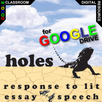 HOLES Essay Prompts and Speech w Rubrics (Created for Digital)