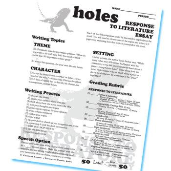 HOLES Essay Prompts & Grading Rubrics