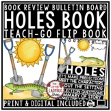Holes Novel Study by: Louis Sacher [Flip Book Review Template]