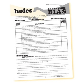 HOLES PreReading Bias