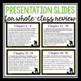 HOLES READING QUESTIONS: HANDOUTS AND PRESENTATION