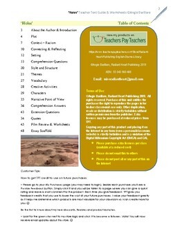 HOLES - Sachar Teacher Text Guide and Worksheets