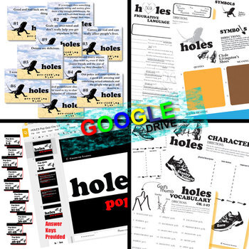 HOLES Unit Plan Novel Study - Literature Guide (Created for Digital)